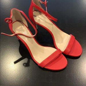 Enzo Angiolini red heel sandals